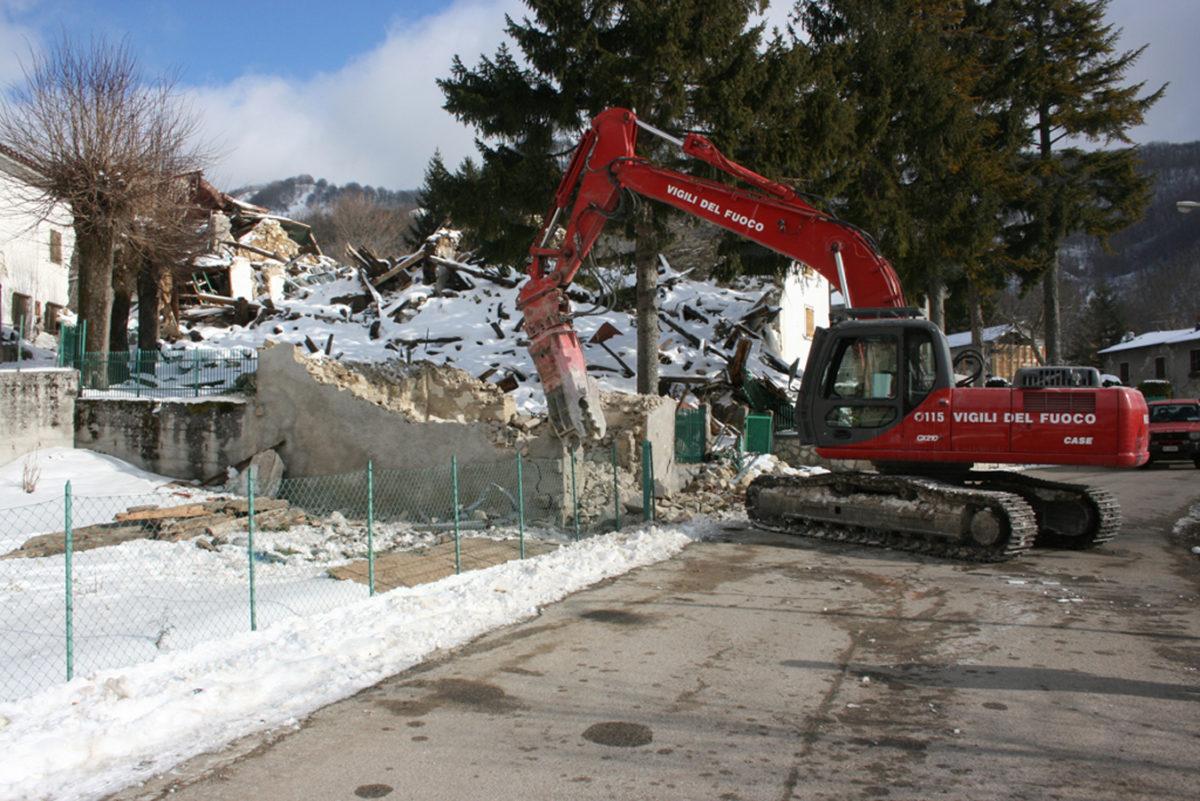 Terremoto - Rimozione immobile Pretare