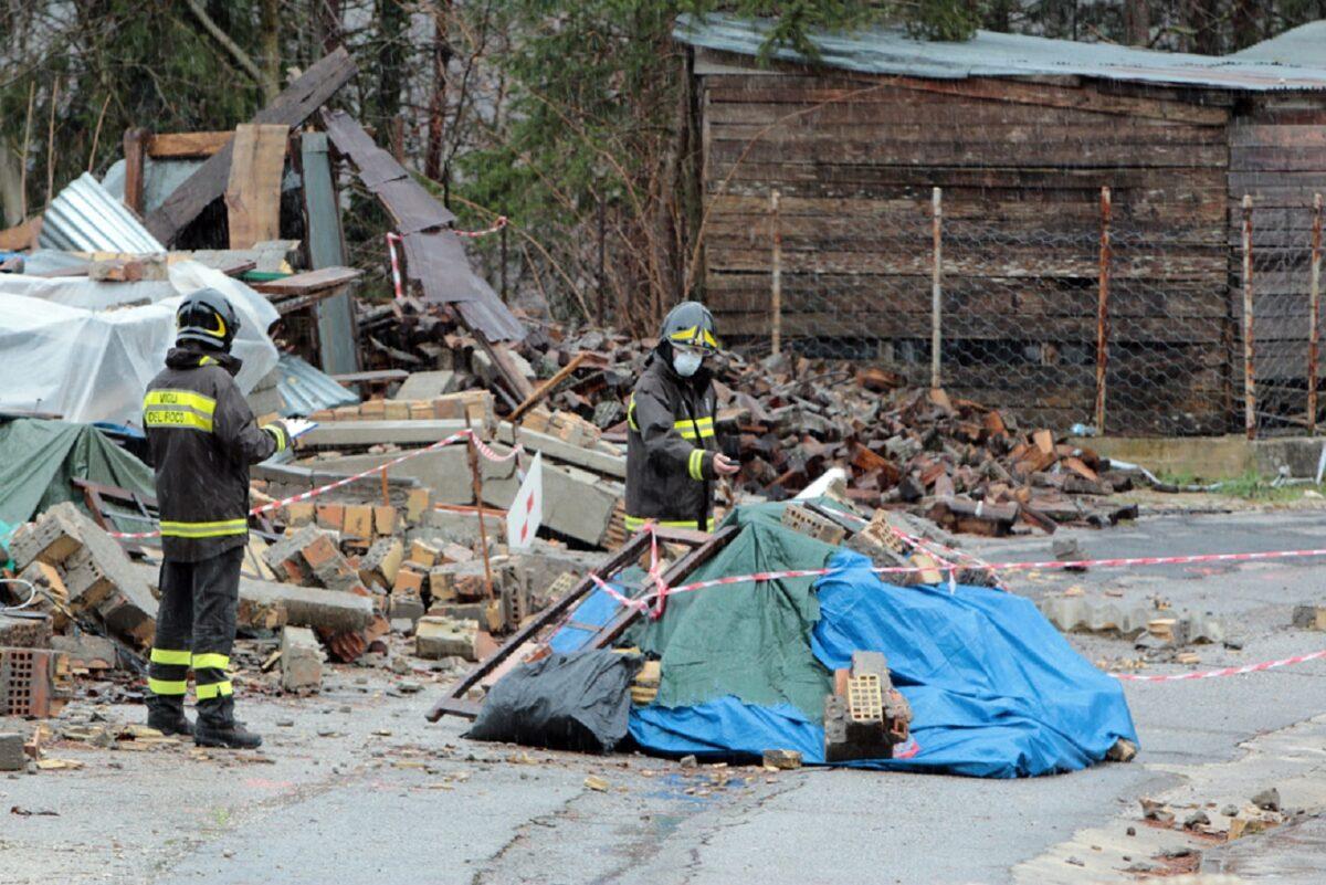 Vigili del Fuoco - Terremoto amianto