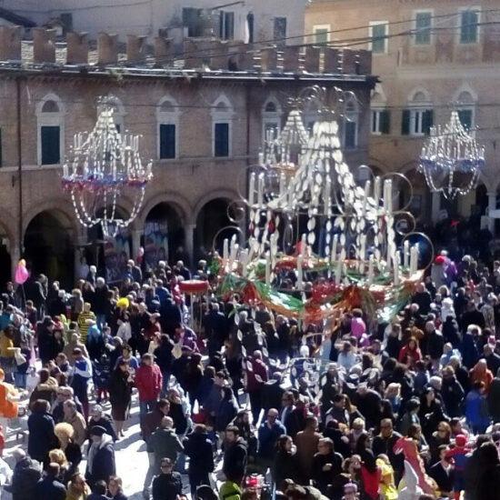 Carnevale 2017 piazza del Popolo domenica mattina