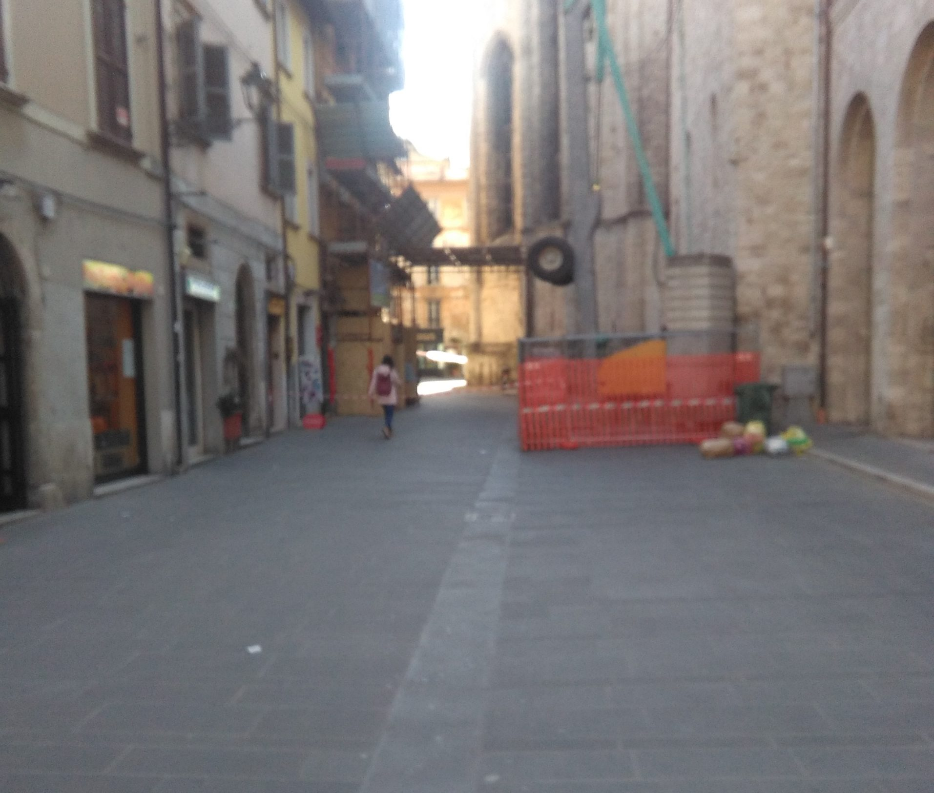 Terremoto San Francesco transenne