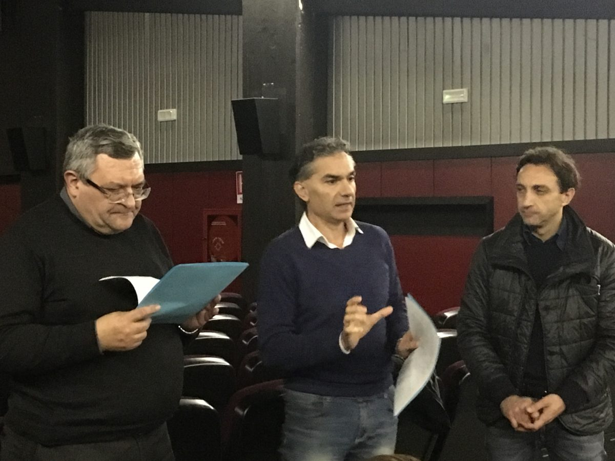 Don Giampiero Cinelli e ingegner Piccioni e Massari