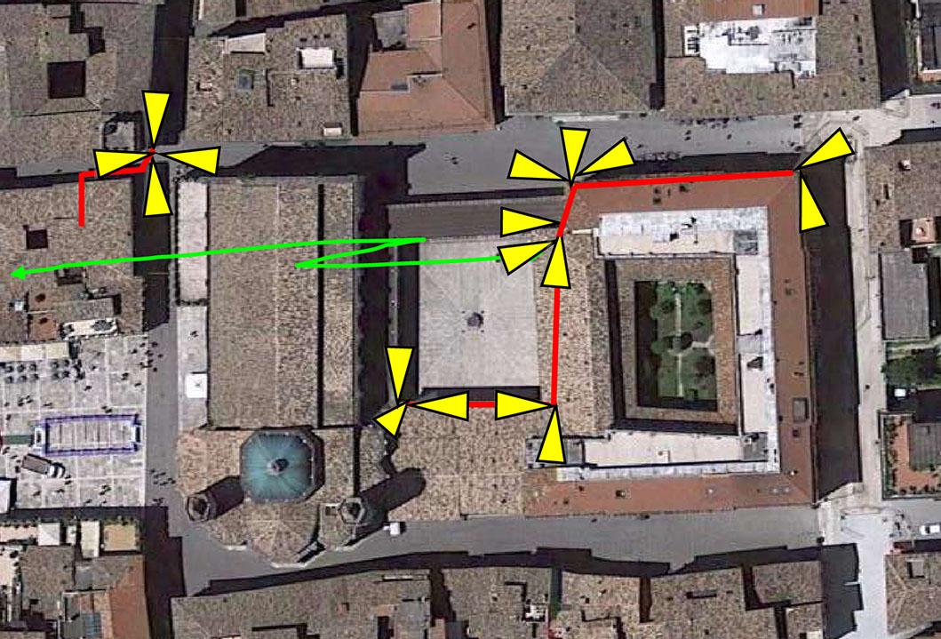 Telecamere corso Mazzini chiostro San Francesco e via Ceci