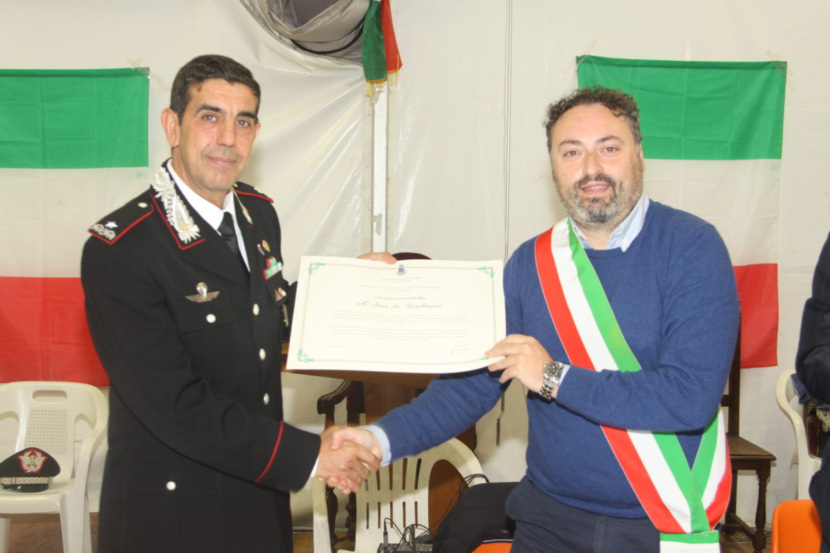 carabinieri cittadinanza onoraria