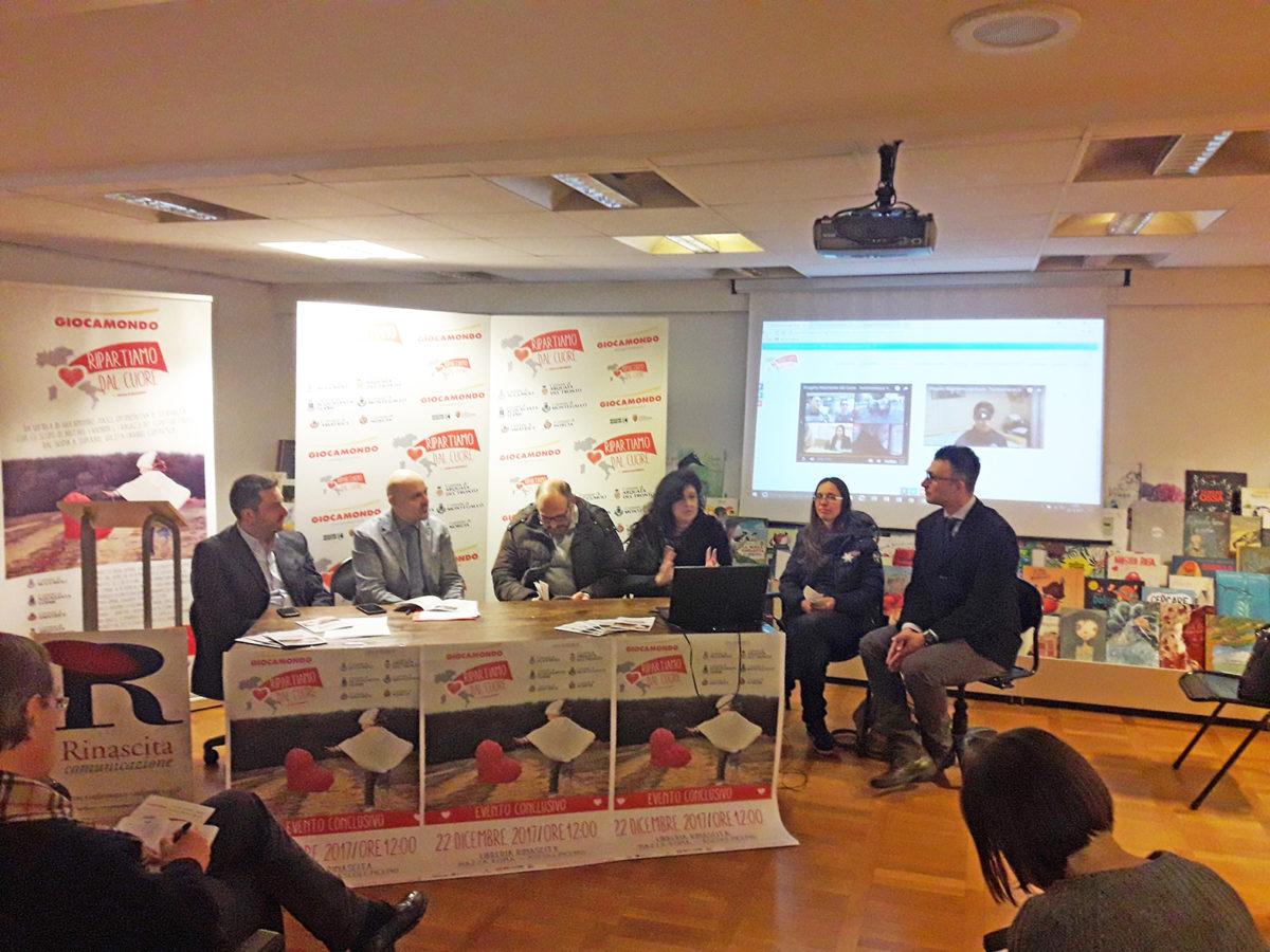 Conferenza stampa Giocamondo per resoconto Ripartiamo dal cuore 22 dicembre 2017 - 3