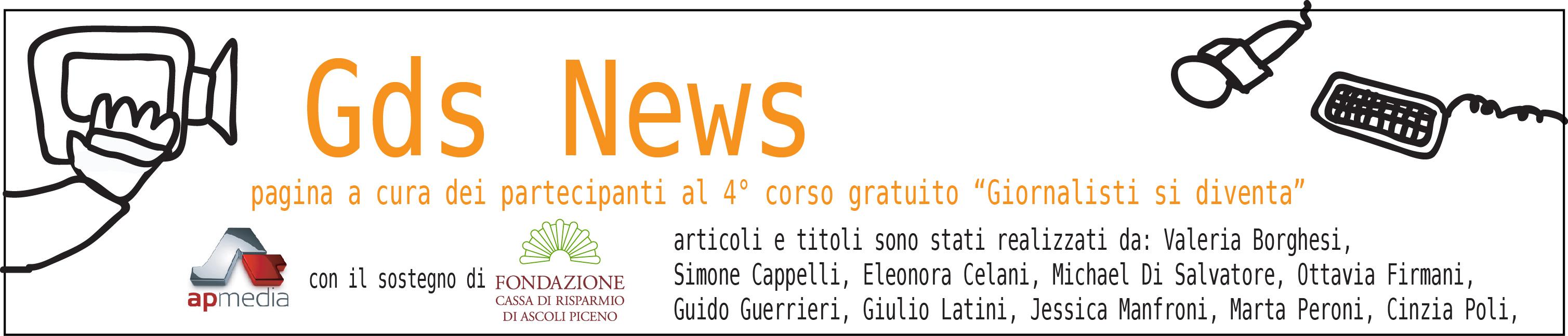 Gds News testata per pagina Gazzetta di Ascoli 2018