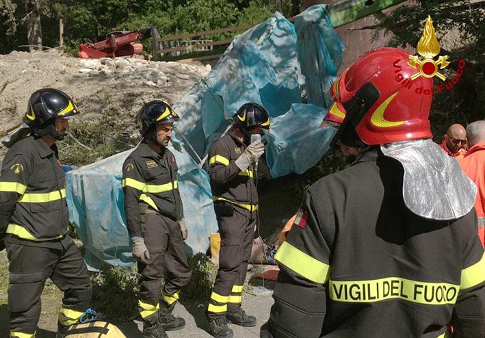 vigili del fuoco a Pescara per incidente lavoro