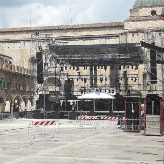 Piazza del Popolo con palco per Sting