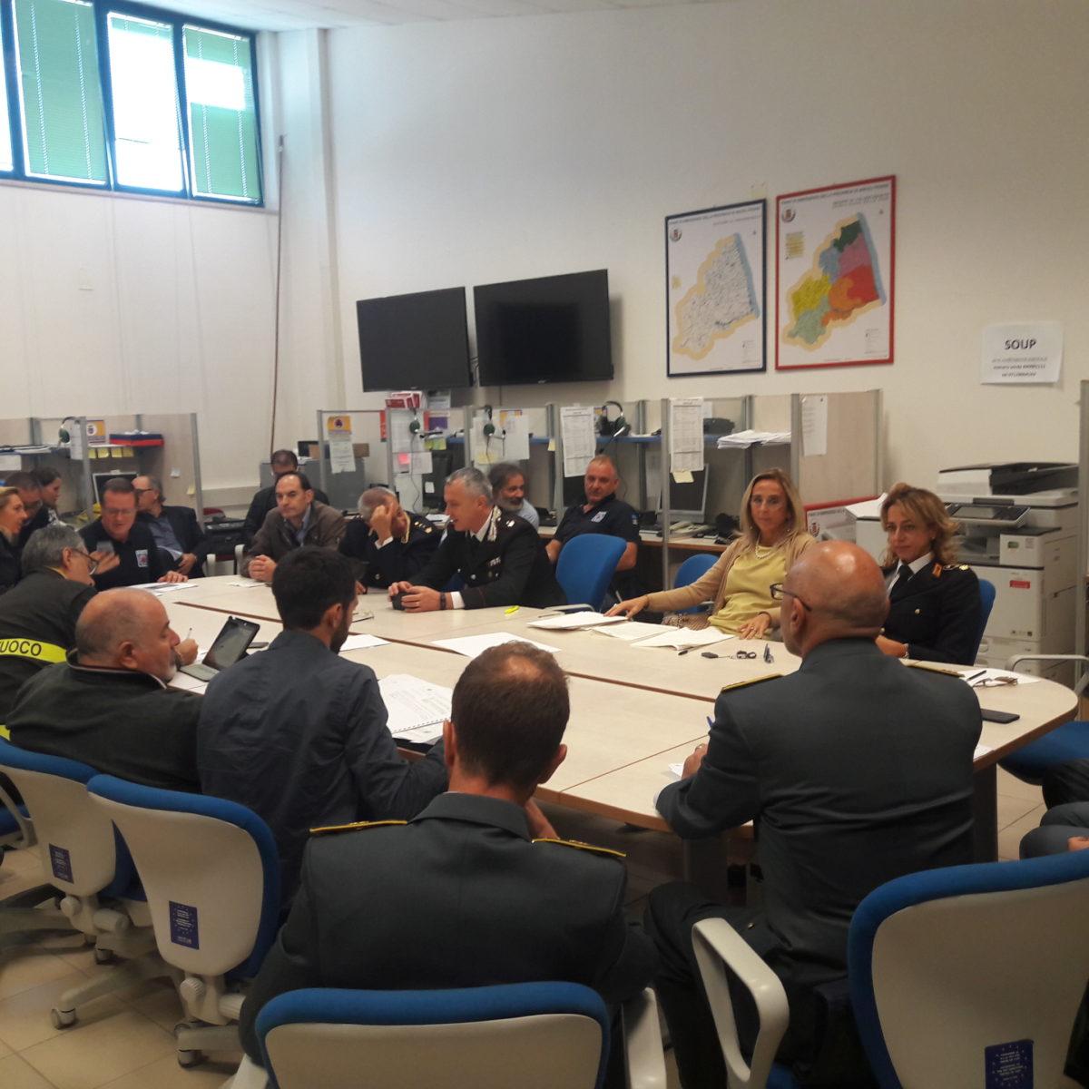 riunione prefettura per piano emergenza Elantas