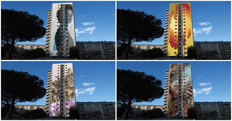 Foto grattacielo Monticelli e arte pubblica