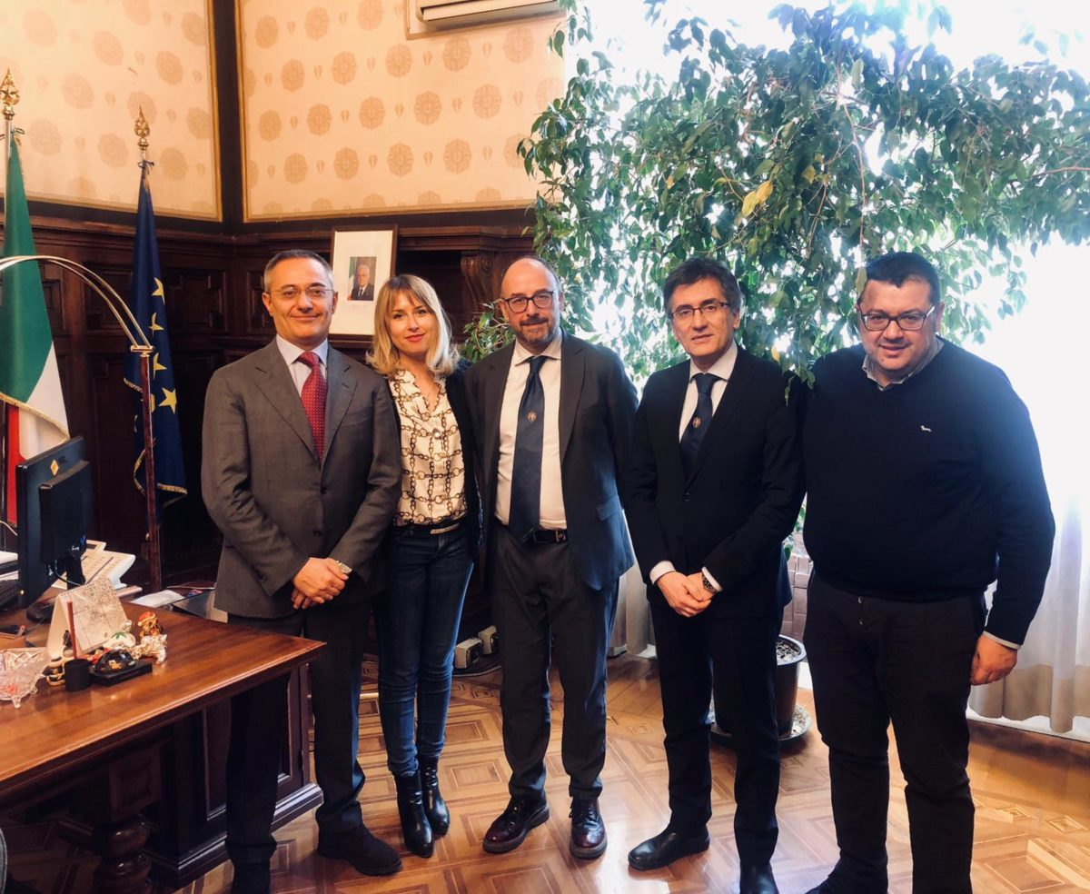 Giuseppe Chiné - Capo Gabinetto Miur - Onorevole Giorgia Latini e Rettore università camerino Claudio Pettinari