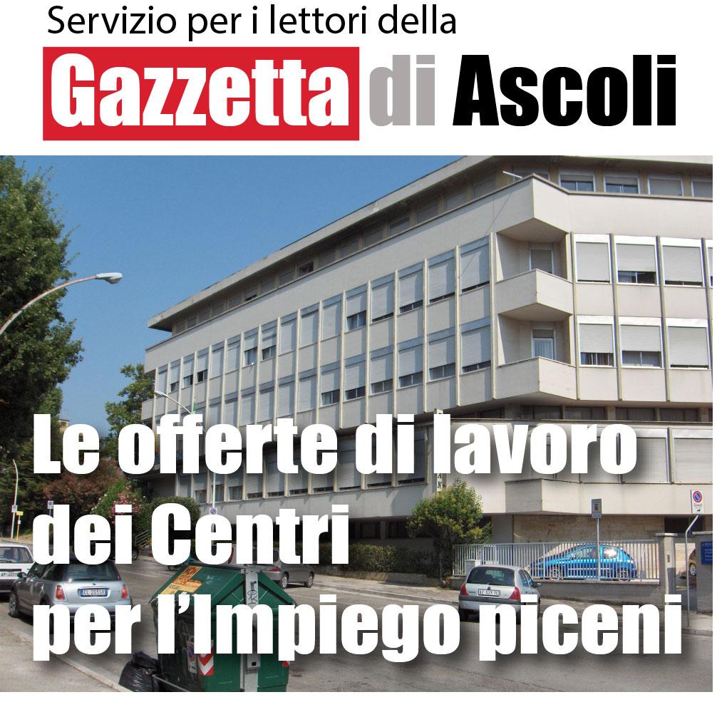 OFFERTE DI LAVORO - Servizio della Gazzetta di Ascoli