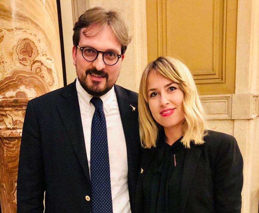 Il Sottosegretario di Governo Guido Guidesi e la parlamentare Giorgia Latini
