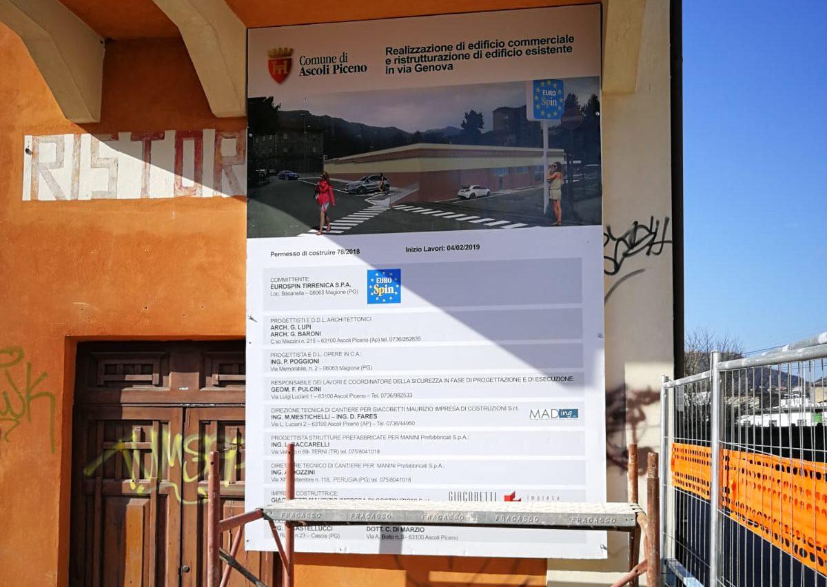 Lavori in via Genova (1)
