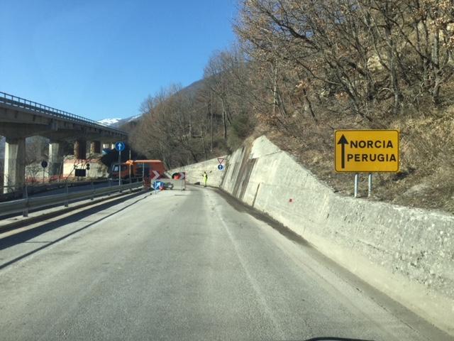 Strada Norcia traforo Umbria