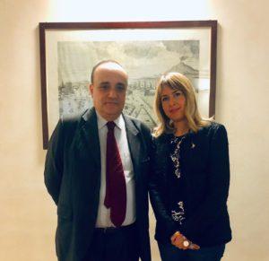 Ministro Alberto Bonisoli e On. Giorgia Latini
