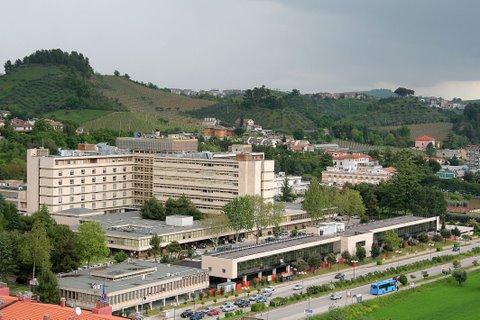 ospedale Mazzoni dall'alto