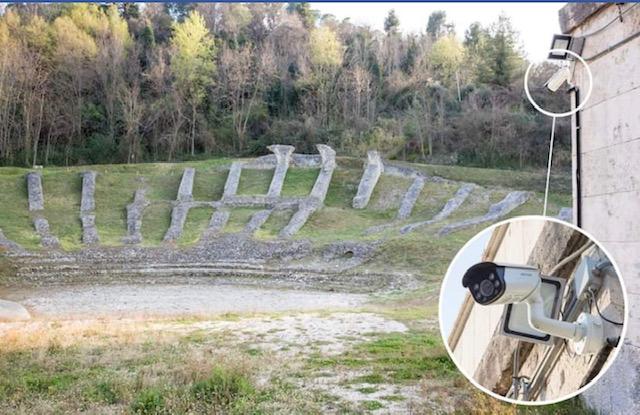 teatro romano telecamere
