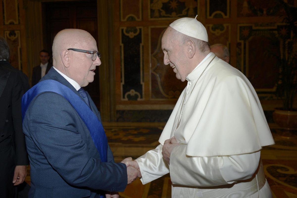 Il Pres. della Prov. Sergio Fabiani e Papa Francesco