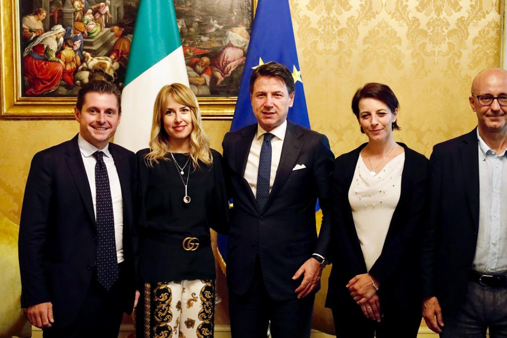 Sindaco Marco Fioravanti - On. Giorgia Latini, Rachele Silvestri e Roberto Cataldi - Presidente Giuseppe Conte