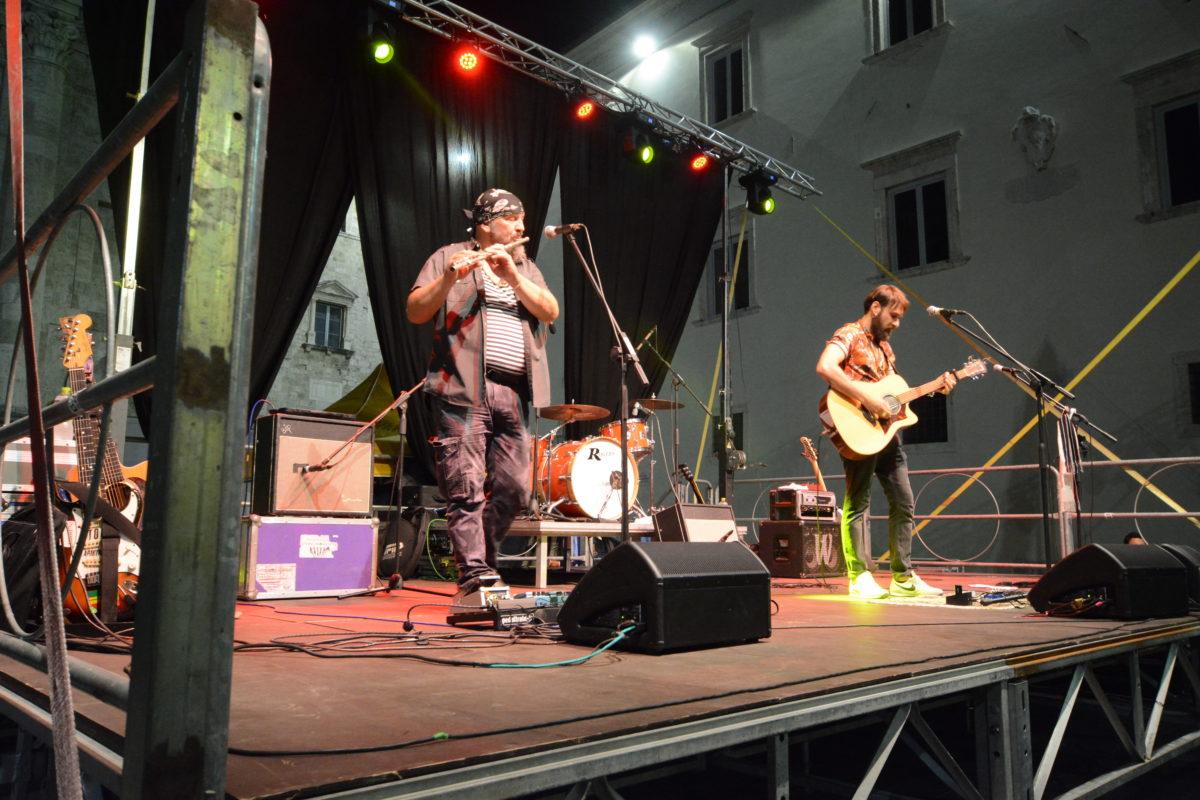 Graziani sul palco